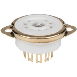 TUBE SOCKET 9-PIN GOLD JAPAN