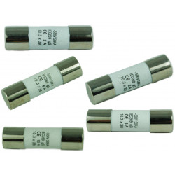 FUSES (POWER:SLOW) 500V 1A D:10XL:38MM