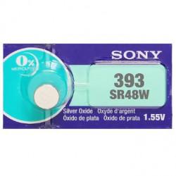 BATTERIES SONY 393 SR48W 1.55V SILVER OXIDE