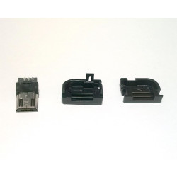 USB DIY CONNECTOR SHELL - TYPE B R/A MICRO-B PLUG