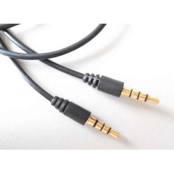3.5MM TO 3.5MM 4 POLE CABLE, MALE TO MALE, 1M