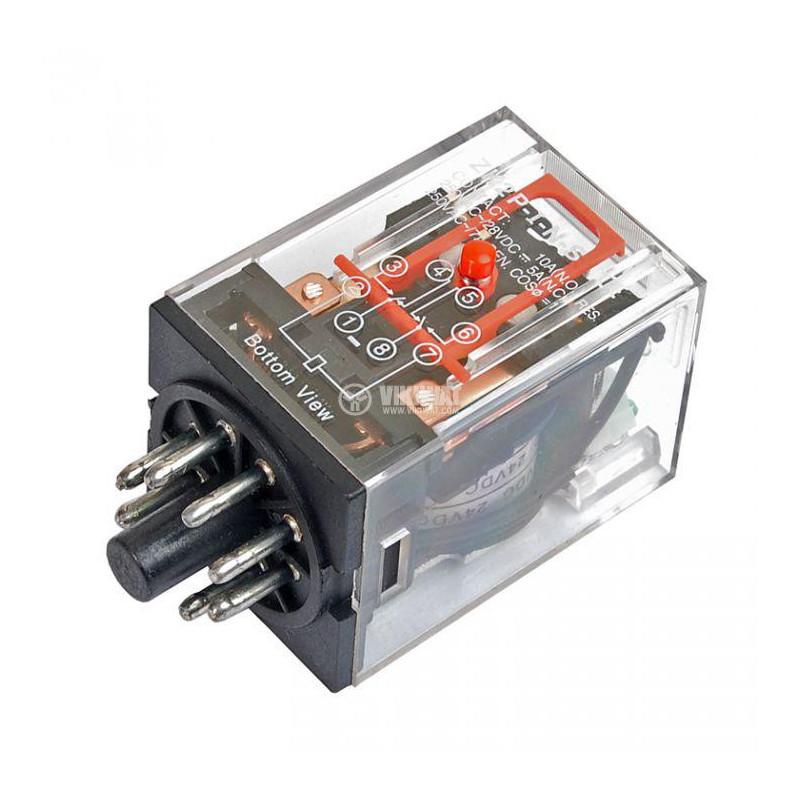 RELAY DPDT MK2P-I, 24VDC, 10A