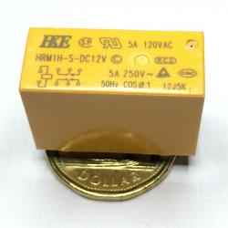 RELAY,HKE,HRM1,24VDC COIL,DPDT,5A