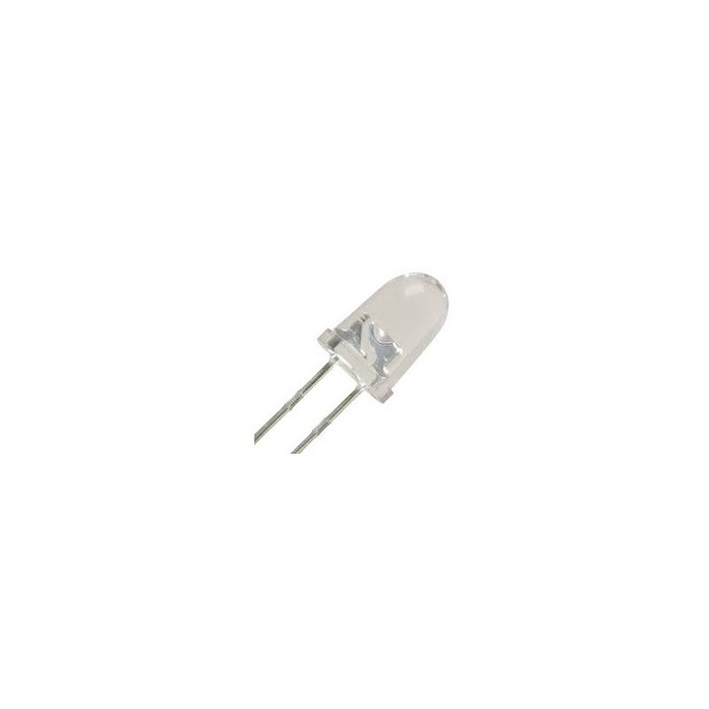 LED 12MM CLEAR YELLOW 2PCS/PKG