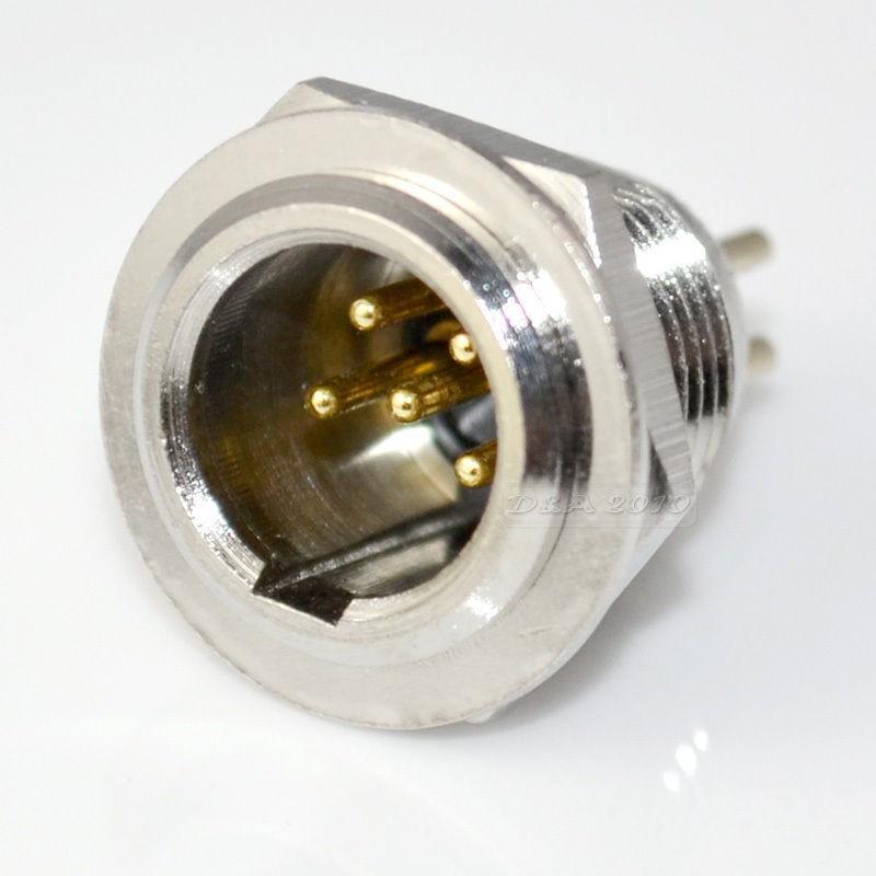 XLR 5-PIN MINI JR2728 MALE CHASSIS MOUNT
