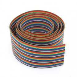 FLAT RIBBON CABLE RAINBOW 34PINS - PER FOOT
