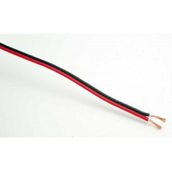 HOOK UP WIRE 2X18AWG R/B - 25FT/ROLL