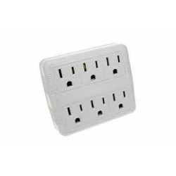 GROUNDED WALL OUTLET 2 TO 6 OUTLETS