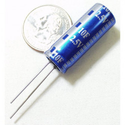 ELECTROLYTIC SUPER CAP, 2.5V, 10F