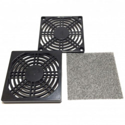 FAN FILTER  GUARD 90MMX90MM PLASTIC