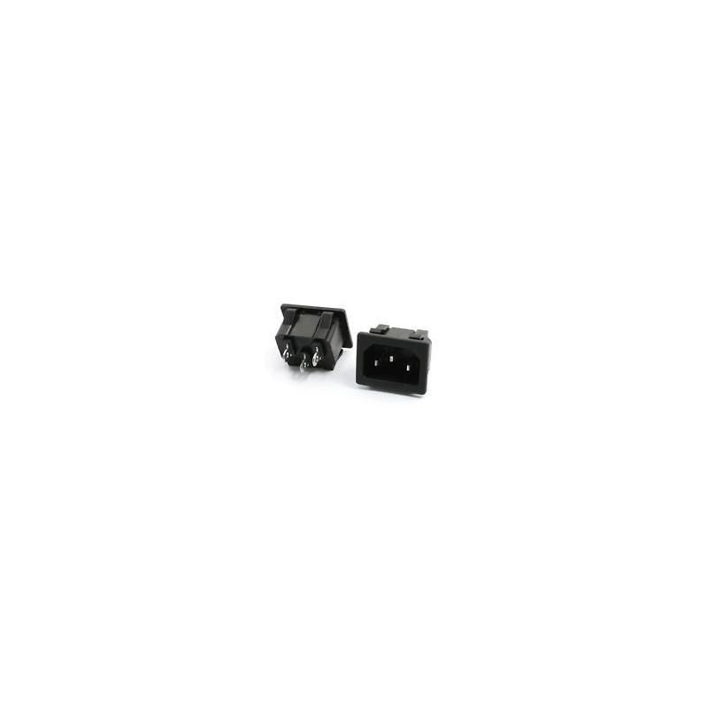 IEC POWER SOCKET PUSH-IN 3-PIN
