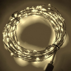 LED STRING LIGHT WARM WHITE 12V 10M 360LED IP67
