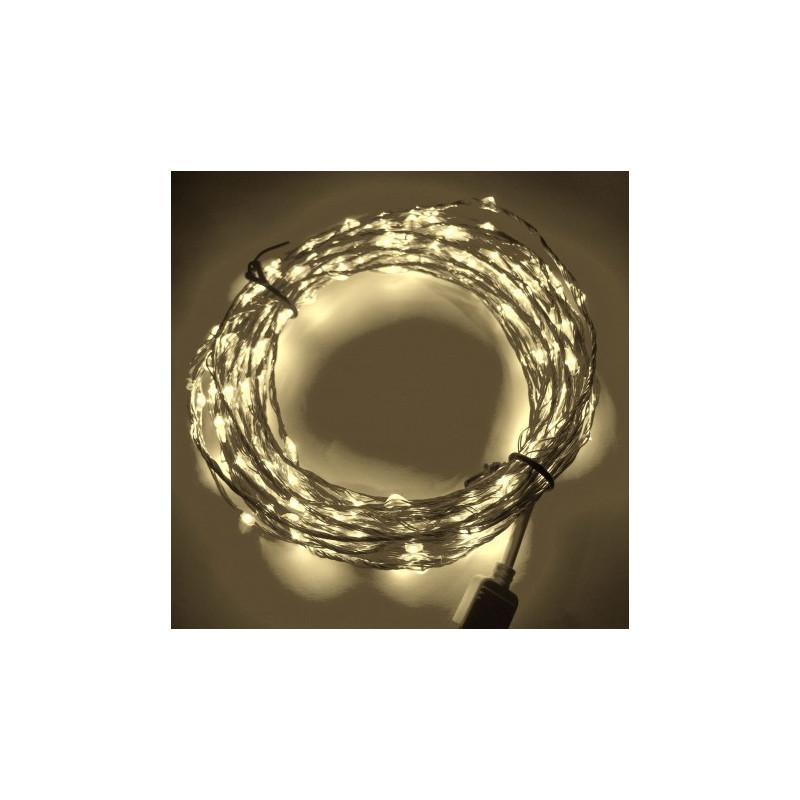 LED STRING LIGHT WARM WHITE 12V 10M 360LED IP67