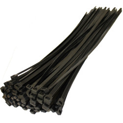 CABLE TIE, GT-250ST, 250X4.8MM, BLACK, 100PCS