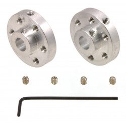 UNIVERSAL ALUMINUM MOUNTING HUB FOR 6MM SHAFT M3