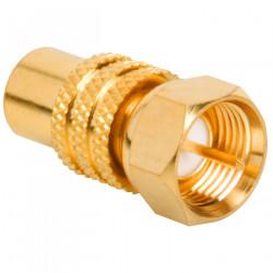 F-PLUG/RCA JACK ADAPTOR (GOLD)