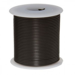 HOOK UP WIRE 2X18AWG BLACK - 50FT/ROLL