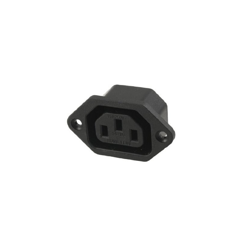 IEC PANEL MOUNT 6A 250V POWER SOCKET