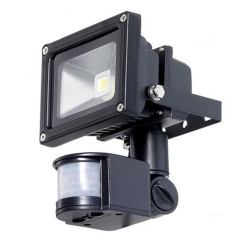 LED MOTION SENSOR LIGHT 10W WHITE 110VAC