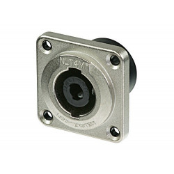 SPEAKON 4P SOCKET METAL CHASSIS MOUNT (SQUARE)