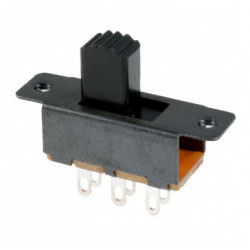 SLIDE SWITCH 6 PIN DPDT ON-ON
