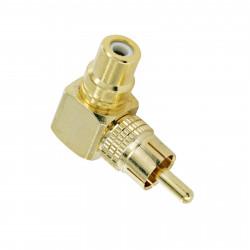 RCA GOLD ELBOW CONNECTOR SLF-3581
