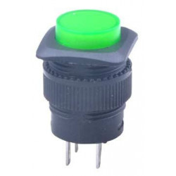 PUSH BUTTON ON/OFF GREEN LED R16-503