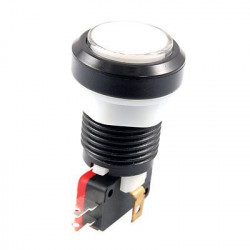 PUSH BUTTON SWITCH WHITE W/ MICRO SWITCH 12V LED