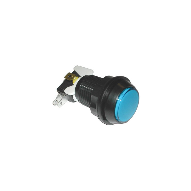 PUSH BUTTON SWITCH BLUE W/ MICRO SWITCH 12V LED