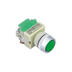 PUSH BUTTON, W/ 12V LED, MOMENTARY, Y090-GS