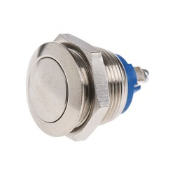 PUSH BUTTON MOMENTARY VANDAL (L) ROUND, SCREW