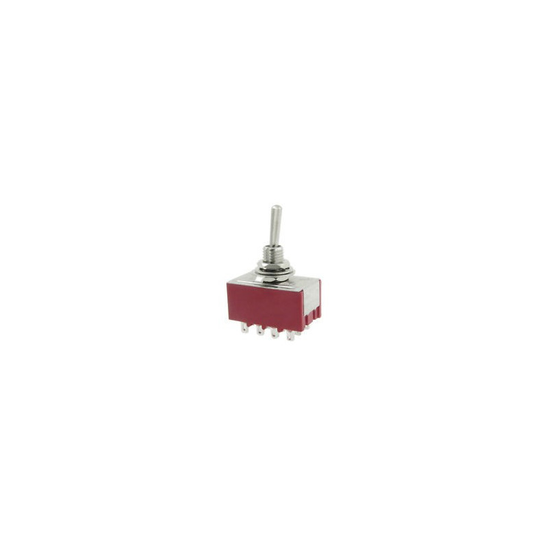 TOGGLE SWITCH,4PDT,ON-ON,5A,SOLDER LUG