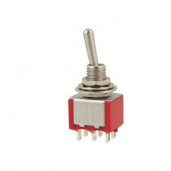 TOGGLE SWITCH,DPDT,(ON)-OFF-(ON),5A,SOLDER LUG