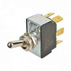 TOGGLE SWITCH,DPDT,(1)-0-(1), 10A, SOLDER LUG(CSA)