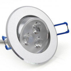 CEILING LED, ROUND STAINLESS STEEL, WARM WHITE, 3W