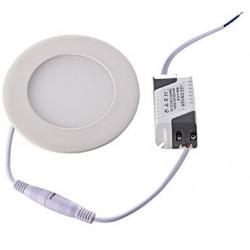 CEILING LED, ROUND, 6W, COLD WHITE W/120V DRIVER