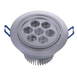 CEILING LED, ROUND, 7X1W, WARM WHITE W/120V DRIVER