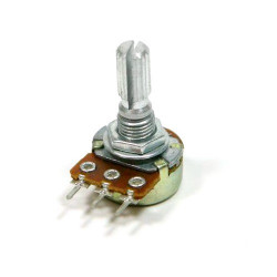 POTENTIOMETER 100K(B) 16MM PCB SPLIT SHAFT