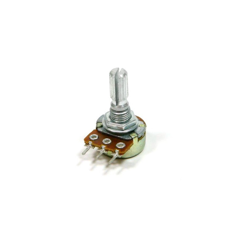 POTENTIOMETER 100K(B) 16MM PCB SPLIT SHAFT