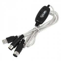 USB CABLE, A TO MIDI, M/M, 2M(6.6FT)