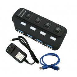 USB 3.0 4 PORT HUB W/POWER