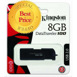 KINGSTON 8GB USB 2.0 DRIVE DT100/G2