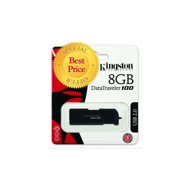 KINGSTON 8GB USB 2.0 DRIVE DT100/G2