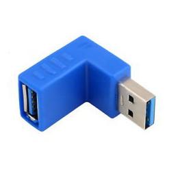 USB 3.0 M/F RIGHT ANGLE ADAPTOR