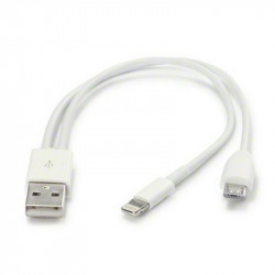 USB TO MICRO AND LIGHTNING CHARGING (ONLY) CABLE