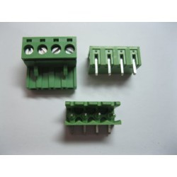 TERMINAL BLOCK 5.08MM 4-POS, 90D MOUNT PCB, 2SET(M/F)