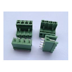 TERMINAL BLOCK 5.08MM 4-POS 90D 2/SET