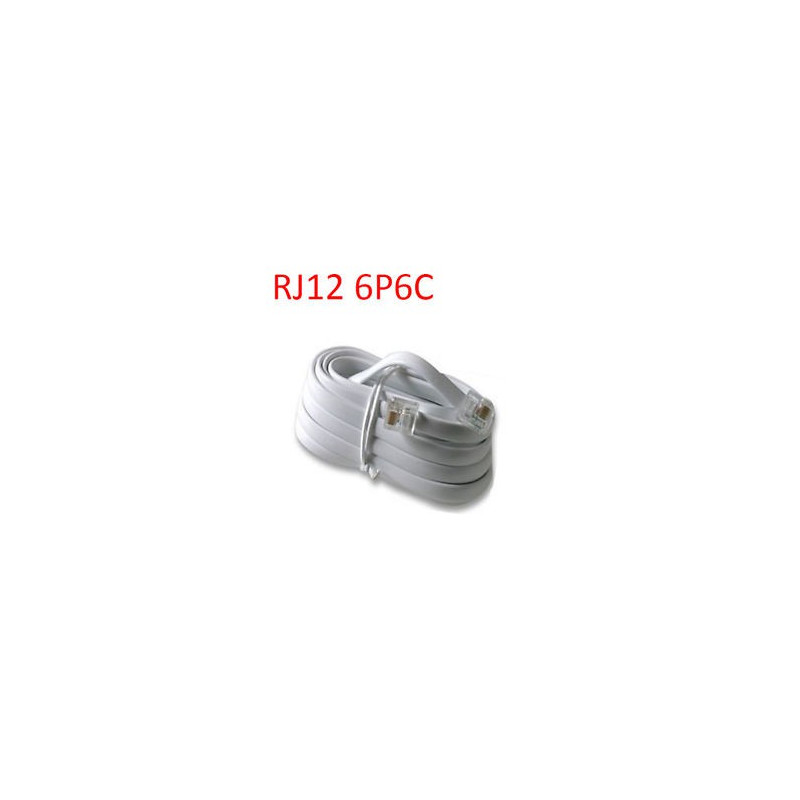 TELEPHONE CABLE, RJ12 (6P6C), 10FT