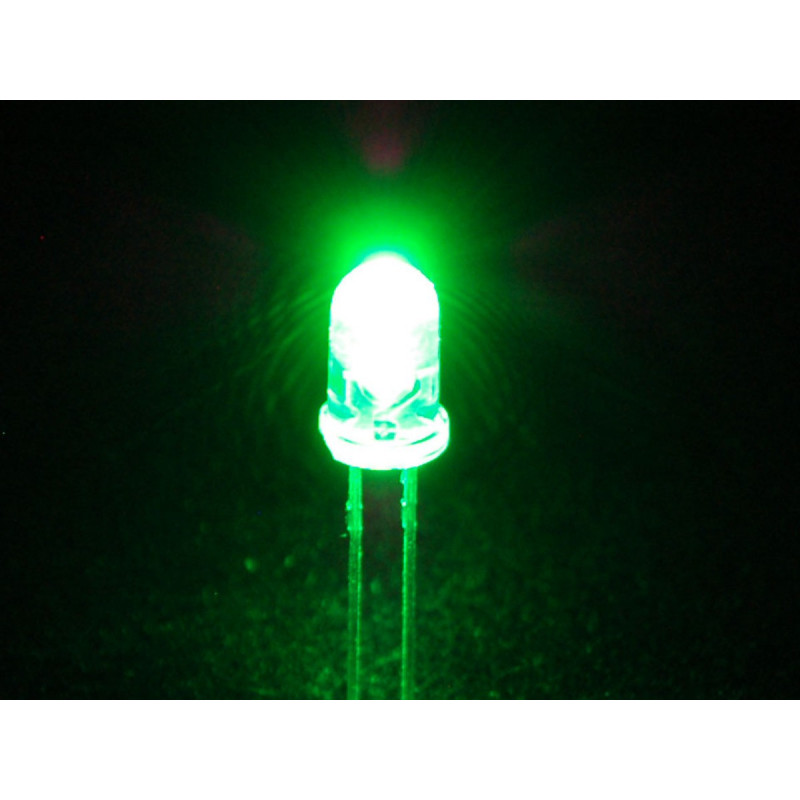 LED 5MM SUPER GREEN MCD7000-9000