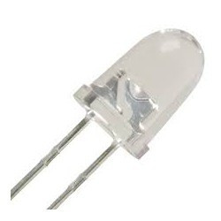 LED 12MM CLEAR GREEN 2PCS
